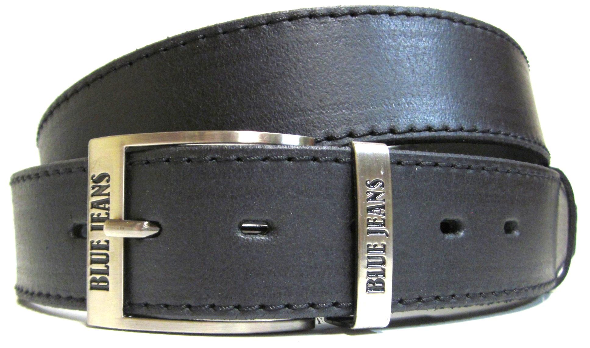 a5117e0e0fb5 Opasok kožený - pánsky opasok čierny s jeans prackou