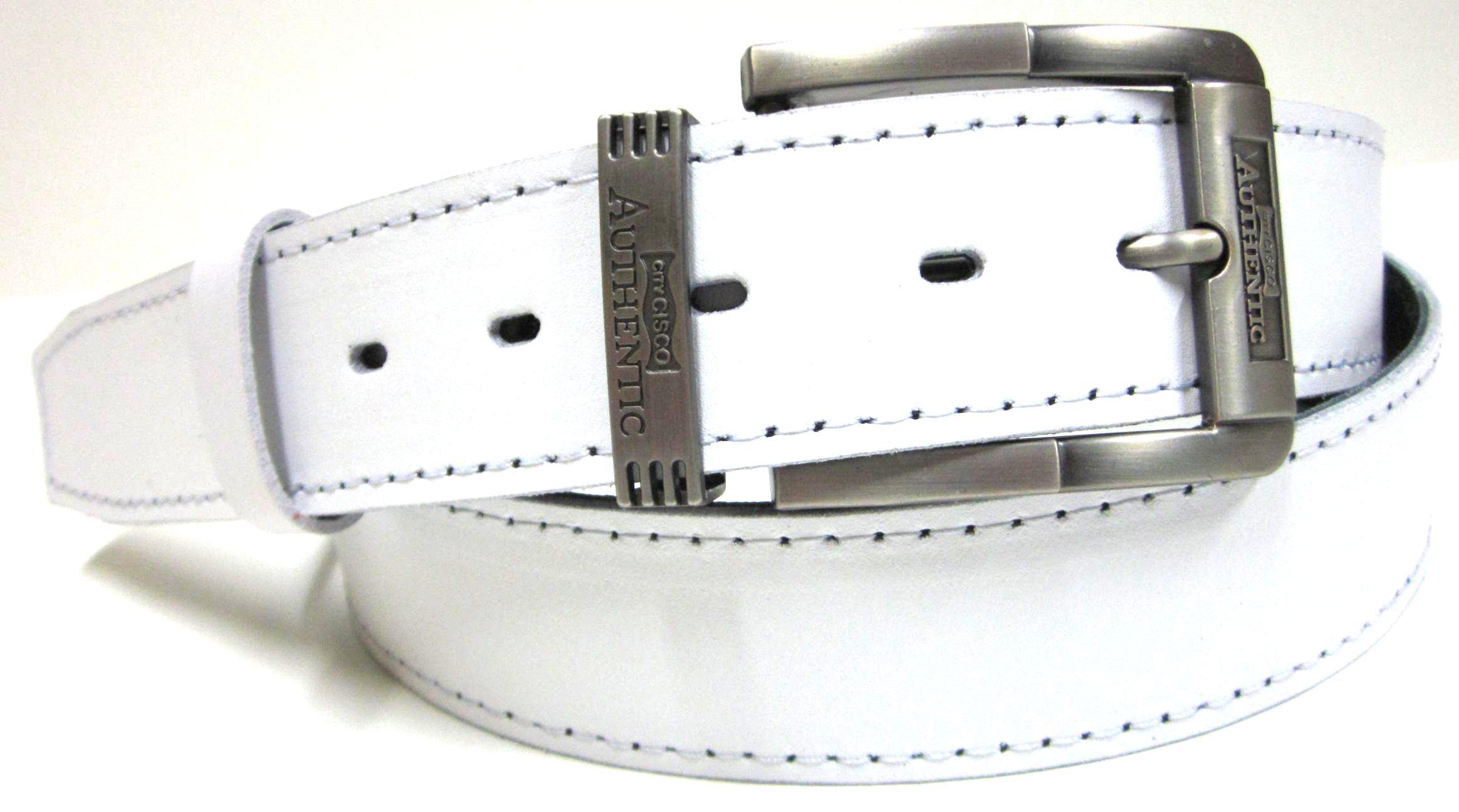 c440013cd Biely opasok pánsky - kožený