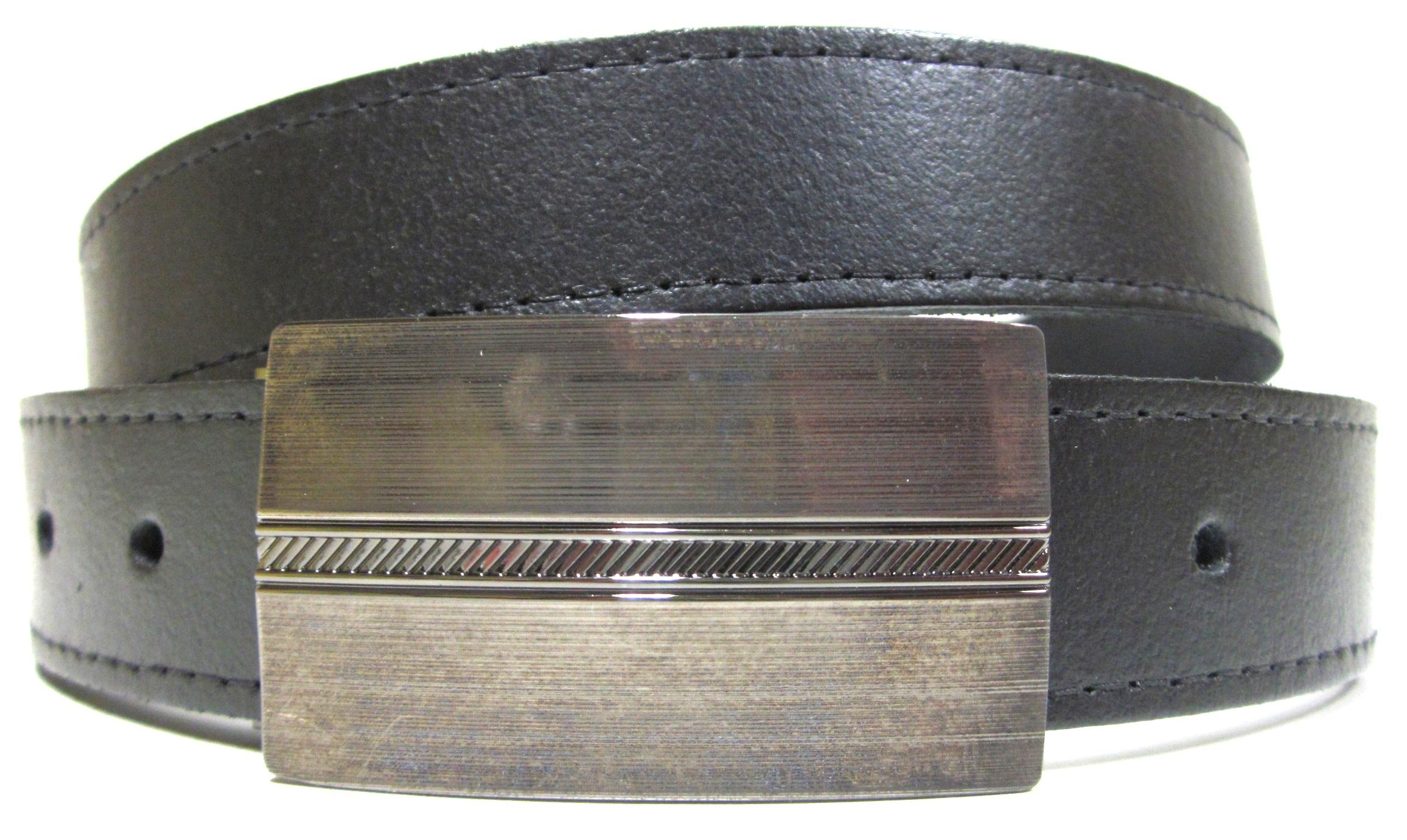fac291f04 Čierny oblekový opasok pre pánov s plnou prackou úzky kožený