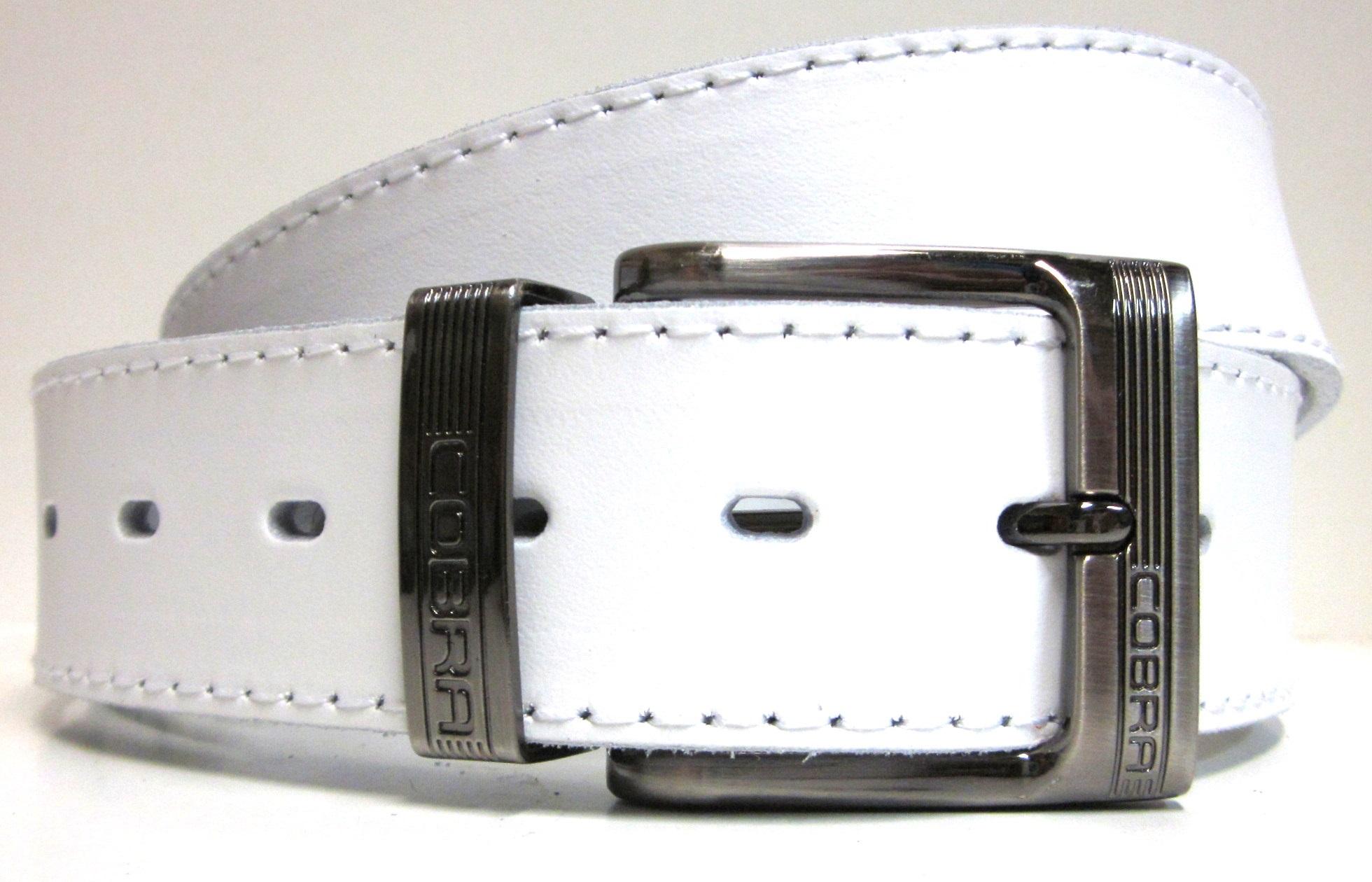 ad9f79204 Pánsky opasok biely trendový s prackou
