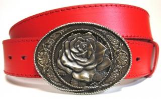 6cdbf1096 Oválna pracka na opasok s ružou